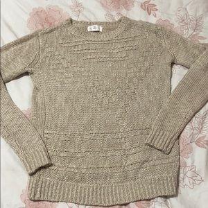 Tan Kitted Sweater